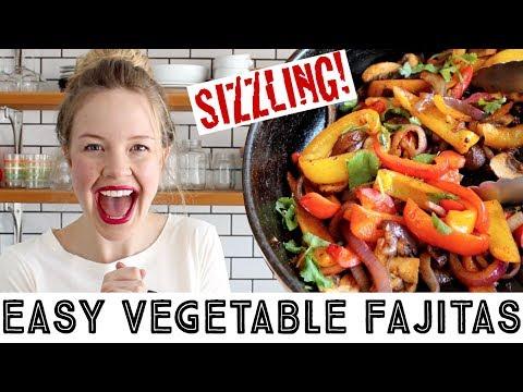 Vegan Fajitas Recipe - Easy Sizzling Vegetable Fajitas!