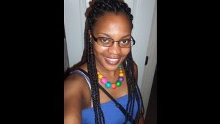 Box Braids with Triangle Parts + Night time routine Thumbnail