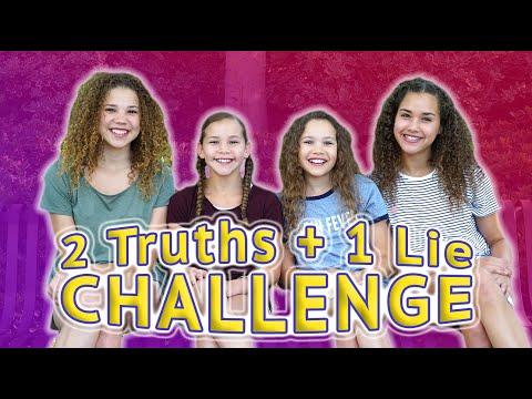 2 TRUTHS, 1 LIE CHALLENGE (Haschak Sisters)