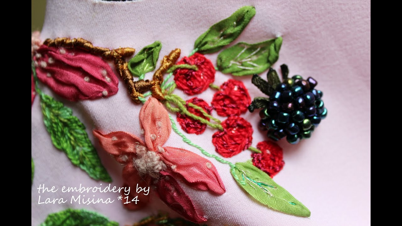 Embroidery Dress Ribbons Art Needlework