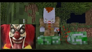 - Monster School Scary KILLER CLOWN IT Challenge Minecraft Animation