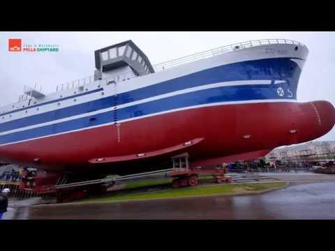 Состоялся спуск головного проекта рыбопромыслового судна проекта PL-475.