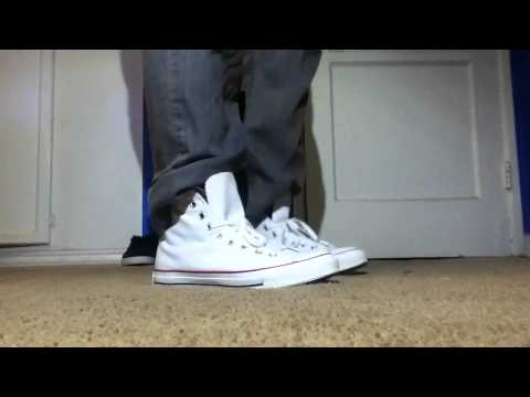 Converse All Star White On Feet
