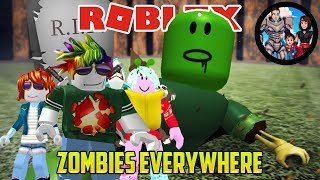 Roblox: ZOMBIES EVERYWHERE! (HARD MODE Zombie Attack)