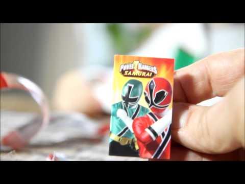 Power Rangers Samurai Egg vs Kinder Joy Egg