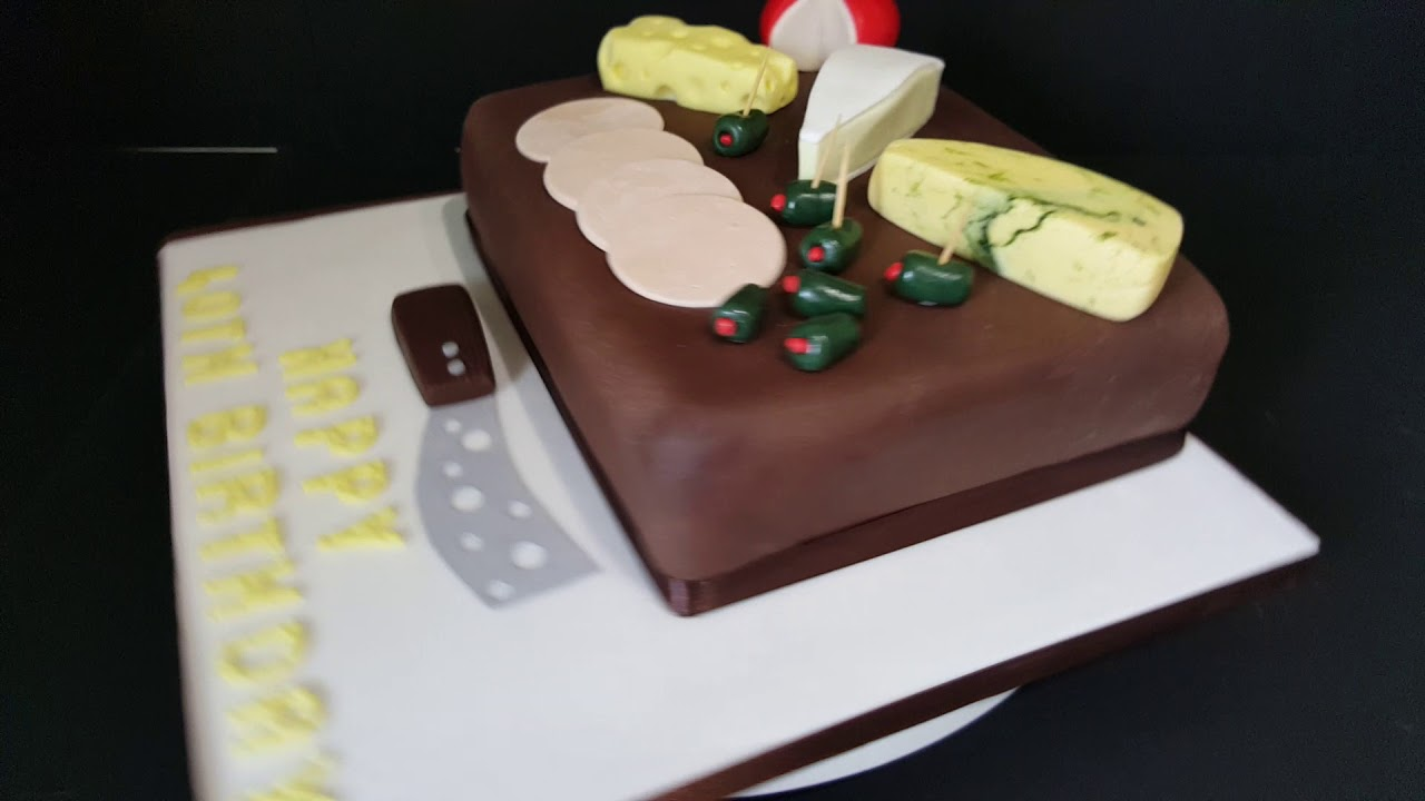 Simply Cakes By Caroline Mirfield Cheese Board Birthday Cake YouTube