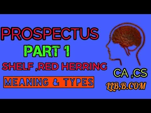 meaning of shelf prospectus