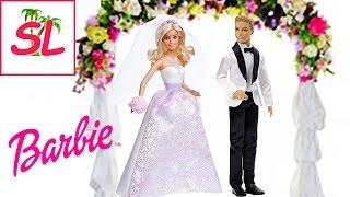 Barbie. Куклы Барби невеста и Кен жених. Распаковка и обзор игрушек.