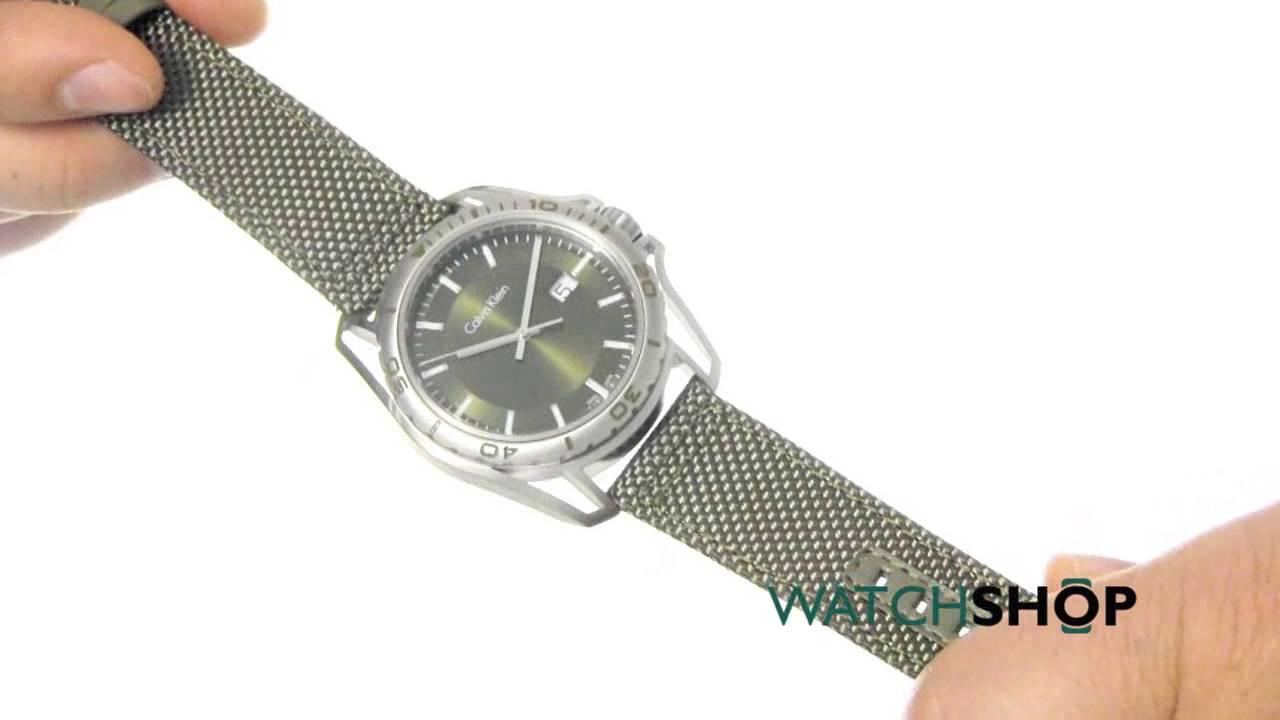 ea22c8ccf Calvin Klein Men's Earth Watch (K5Y31XWL) - YouTube
