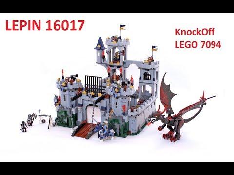 Speed Build Lepin 16017 Kings Castle Siege Lego 7094 Youtube