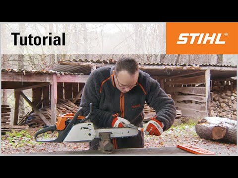 sharpening the chain and depth gauge with the stihl 2 in 1 file holder youtube. Black Bedroom Furniture Sets. Home Design Ideas