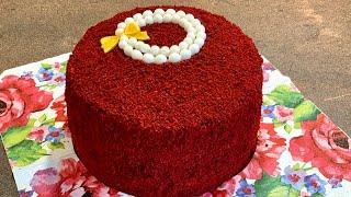 Торта Червено кадифе Торт Красный бархат Red velvet cake