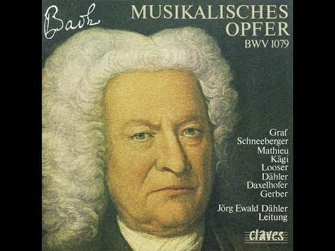 Jörg Ewald Dähler & Peter-Lukas Graf - J-S Bach: Musical Offering, BWV 1079 / Canon a 2