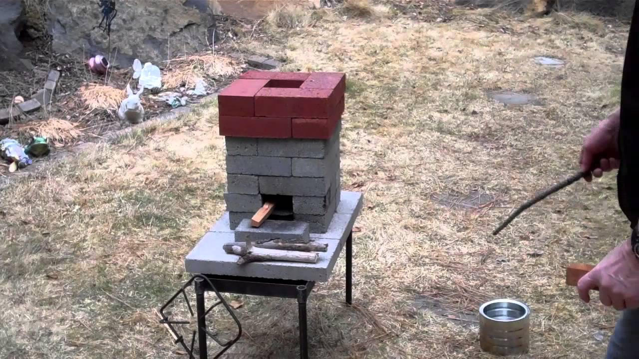 How to improve on the basic brick rocket stove youtube for Brick jet stove