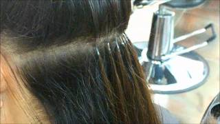 Keratin Glue Hair Extensions by Euphora (Best Hair Salon in Queens NY)