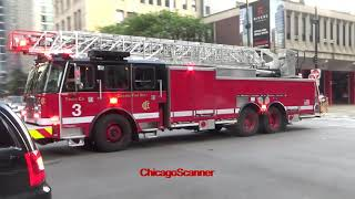 Chicago Fire Department Truck 3 & Ambulance 42 Responding