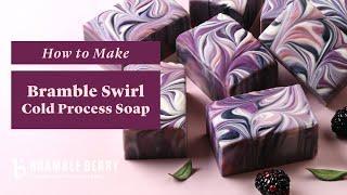 Anne-Marie Makes Bramble Swirl Soap