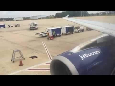 JetBlue Airbus A320-200 Landing + Taxi at Jacksonville International Airport