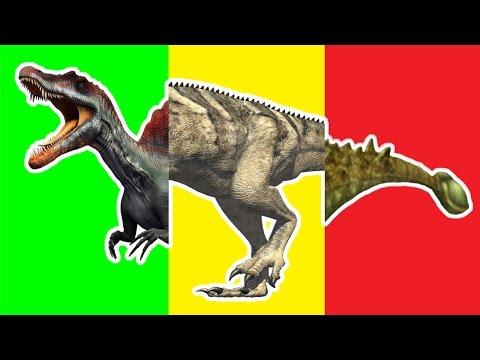 Wrong Heads Dinosaurs! Match Up Game Ankylosaurus Ceratosaurus Dilophosaurus Spinosaurus Crying Rex