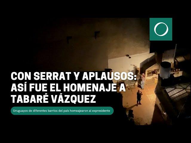 Con Serrat y aplausos: así fue el homenaje a Tabaré Vázquez