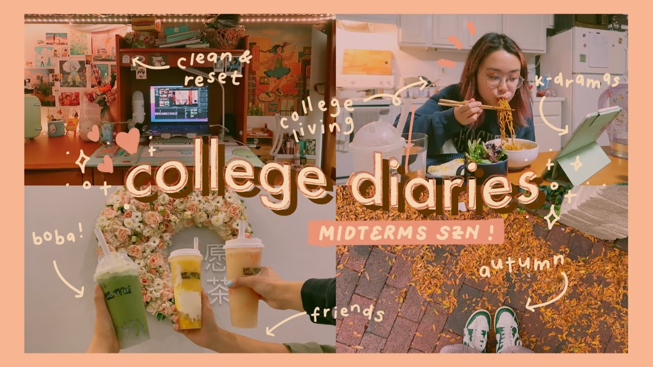 college diaries: studying for midterms, clean & reset, shopping, + autumn days // vlog 018