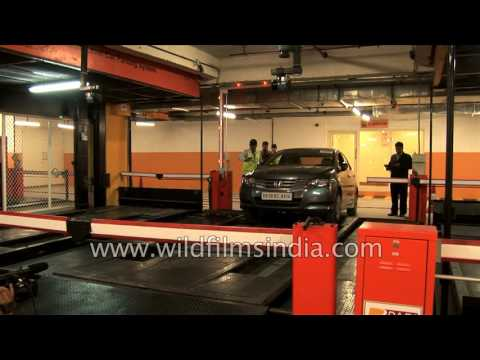 Automated multi-level car parking in South Delhi