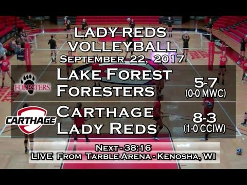 Carthage Women's Volleyball vs. Lake Forest 2017_9_22