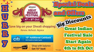 Amazon Great Indian Festival Sale Oct 2017 | Diwali Dhamaka Amazon Deal and Offers on Mobiles N More