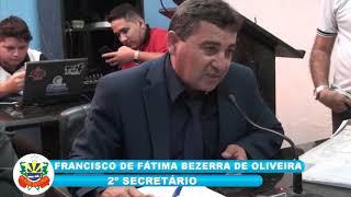 SESSÃO ORDINÁRIA DE QUIXERÉ 05 10 18