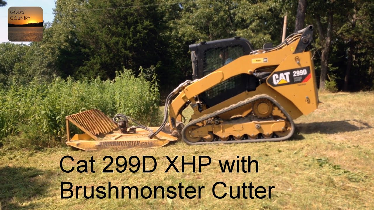 maxresdefault cat 299d xhp running a brushmonster rotary cutter youtube Caterpillar 586C Forestry Mulcher at reclaimingppi.co
