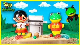 Ryan's Toys Come to Life in Gus the Gummy Gator's Dream Pretend Play fun!!!