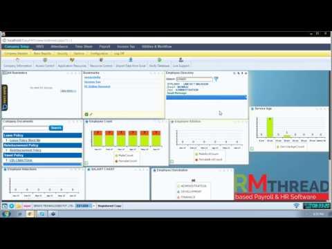HRMTHREAD - Payroll & HR Software India - Dashboard