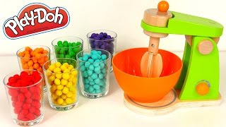 Kitchen Mixer Learning Colors and Mixing Colors with Play Doh Dippin Dots