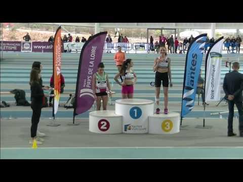 Podium France Cadettes 800m Salle Nantes 2017 Youtube