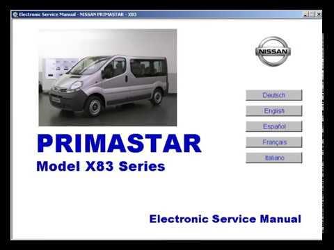 nissan primastar manual de taller service manual manuel rh youtube com Nissan Terrano Nissan NV300 Interior