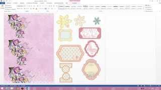 Создание в Word шаблонов для цветов, тегов и дизайнерской бумаги.