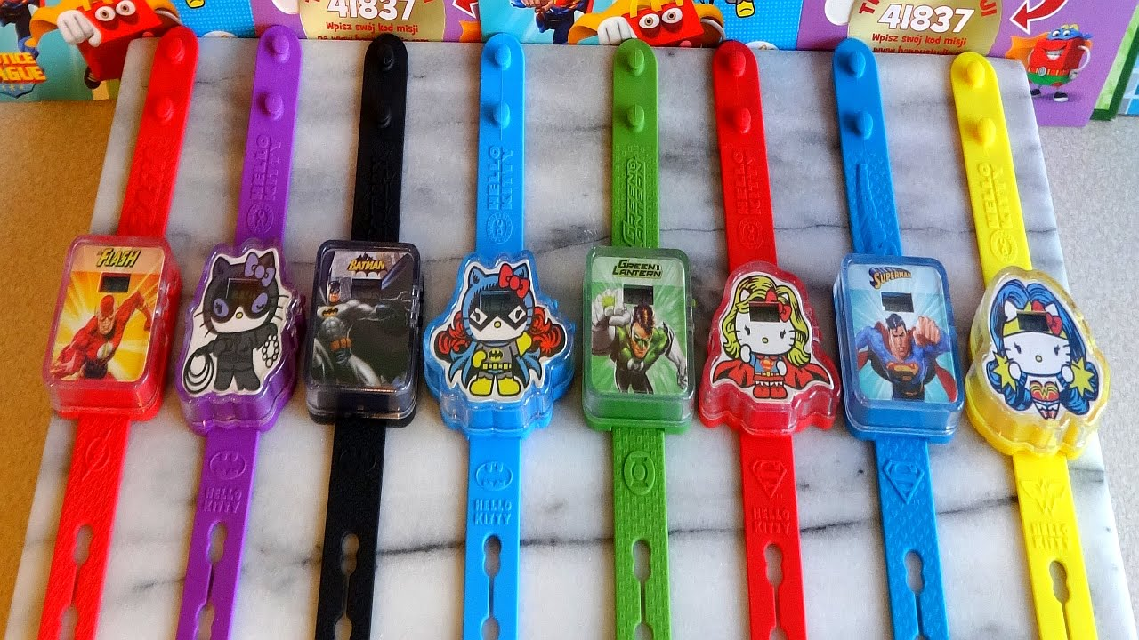 2015 justice league  u0026 hello kitty watch complete set in