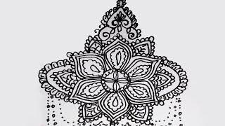Beautiful Alpona Design And Rengoli Design 21 \\ pencil drawing\\easy alpona design\\design\\bengali