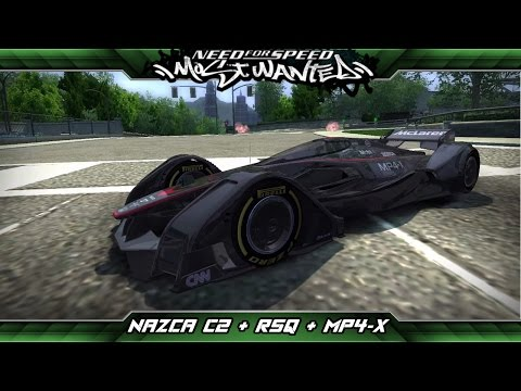Need for Speed: Most Wanted Mod Showcase - BMW Italdesign Nazca C2 + Audi RSQ + McLaren MP4-X