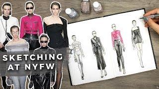 Sketching at NEW YORK FASHION WEEK! (ft. Alexander Wang + more!)