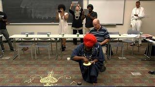 Vodou Priest & Visual Artist Houngan Gran Bwa performs Veve Ritual