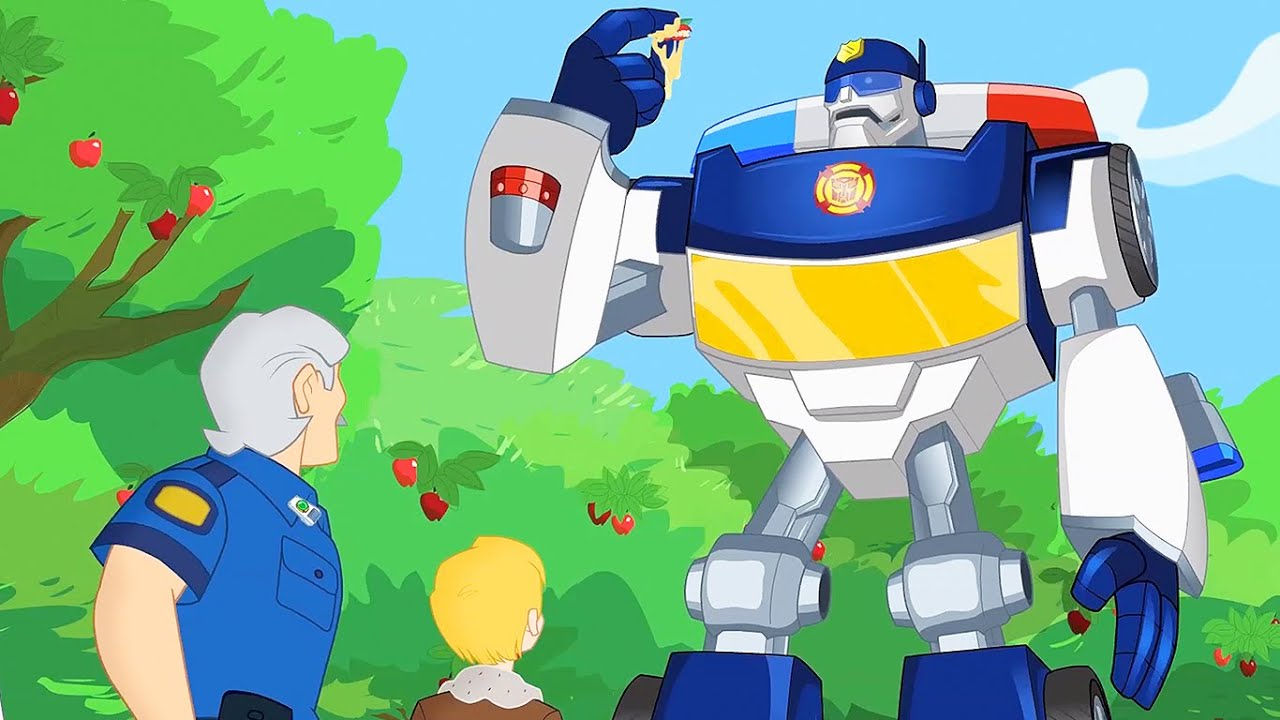 Pegando o Ladrão de Maçã | Rescue Bots | desenho animado infantil | Transformers para crianças