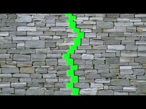 Футаж стена, карта переход HD хромакей #1 Footage transition Fall free download