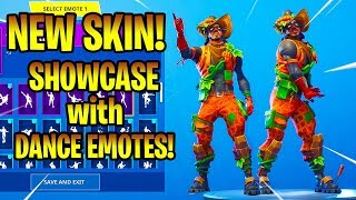 *NEW* FORTNITE PATCH PATROLLER SKIN SHOWCASE WITH DANCE EMOTES!