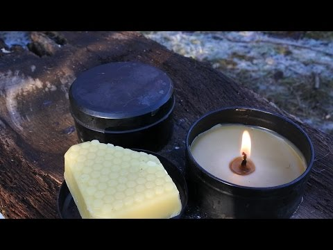 Making Bee's Wax Candles In Camp