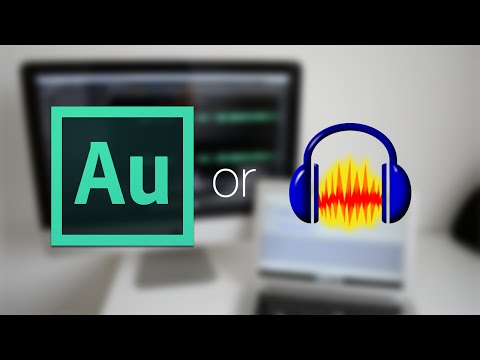 Audacity or Adobe Audition