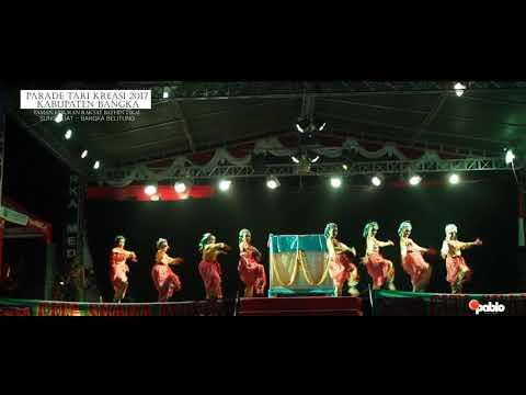 VIDEO TARI PARADE TARI KREASI 2017 KAB BANGKA - PESONA WANGKA - tari INAI