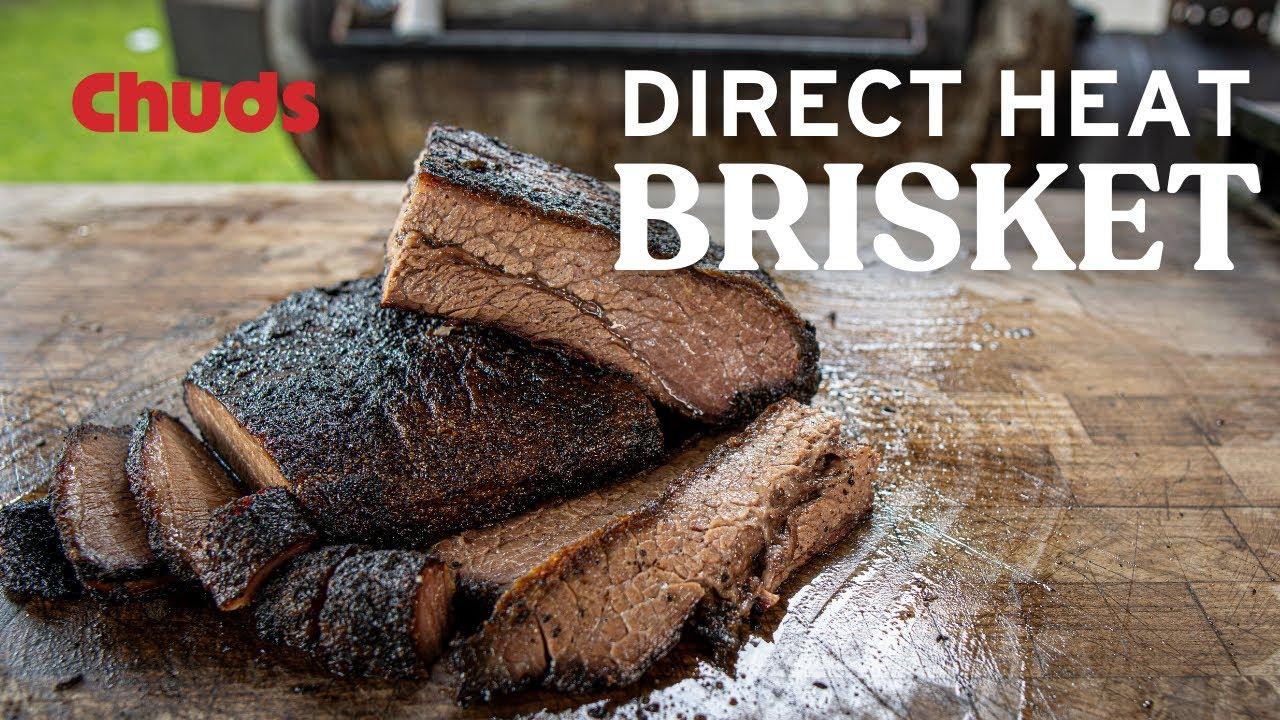 Direct Heat Brisket!   Chuds bbq