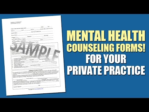 Mental Health Counseling Forms For Your Private Practice