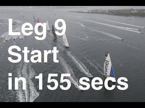 Leg 9 Start ...in 155 seconds | Volvo Ocean Race
